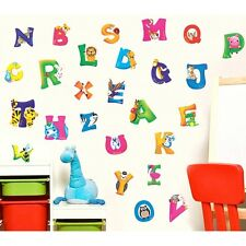 Vinyl Mural Wall Stickers Nursery A-Z Alphabet & Animals Home Decals Decor - LD