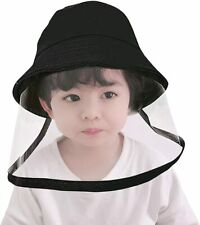 Kids Boys Girl Dustproof Sun Hat Cotton Packable Visor Hat Summer Face Shield