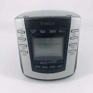 Timex Nature Sounds T300B Digital Tuning Alarm Clock AM FM Radio Tested Working