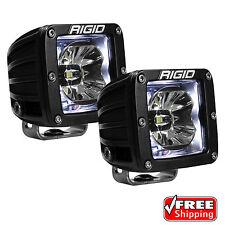 Rigid Radiance 20200 Pod LED Lights PAIR - WHITE Illuminated Background Light