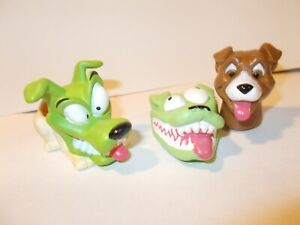 """2*Taco Bell Figures 1997 / 1995 The Mask MOVIE ~""""Milo the Dog"""" Applause/New Line"""
