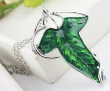 Lord of The Rings Green Leaf Of Lorien Elven Pin Brooch Pendant Necklace 2.5� Us