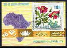 Fleurs - Guinée Equatoriale (125) bloc oblitéré