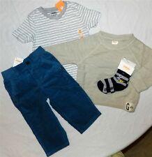 Pant Set Gymboree 5pc Blue Corduroy Oatmeal Shirt Tee Boys size 12/18 mo New