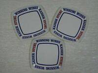 3 x Kaiser Stuhl Winning Wines Advertising Mini Plates Melbourne Made in Italy