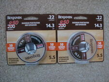 500 Benjamin 22 Cal Destroyer Pellets 2 Tins 14.3 gr Airgun Rifle Pistol Crosman