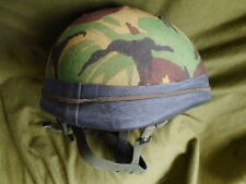 genuine ISSUE BRiTiSH PARA PARATROOPER AIRBORNE HELMET dpm cover protector band