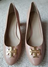 Tory Burch Raleigh Pumps Leather Blush Oak Beige size 11M