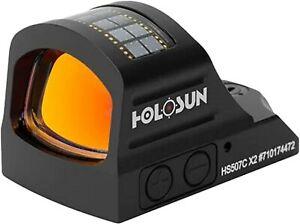 HOLOSUN HS507C-X2 Classic Open Reflex Optical Multi Reticle Red Dot Sight Black