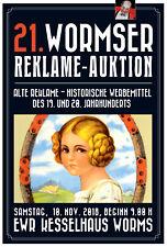 21. Wormser Reklame Auktion 10.11.2018