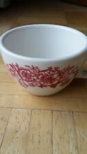 Homer Laughlin Very Heavy Red Flowers Restaurant Ware Coffee Cup-Great Condition