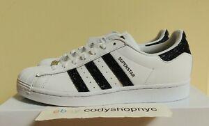 Adidas Superstar Originals x Swarovski size 8.5 White Black Crystals NEW FX7480
