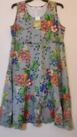 Beautiful TS Taking Shape Tropical Bouquet 100% Cotton Dress With Pockets BNWT