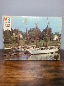 Vintage Milton Bradley Sail Boats 750 Series Oxford puzzle Sealed