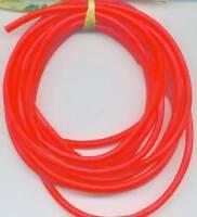 "7//16/"" 20ft Plastic Surge Tubing 4 Umbrella Rigs Cobia Barracuda Jigs Flame Red"