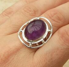 Amethyst 925 Silver Ring Size N-US 6 3/4 Indian Jewellery