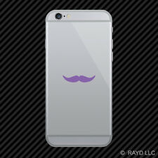 (2x) Mustache Cell Phone Sticker Mobile #3 many colors