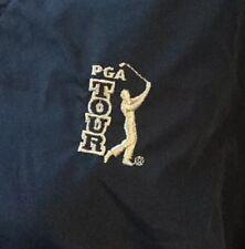 PGA Tour Mens L Navy V Neck Golf Windbreaker Pull Over
