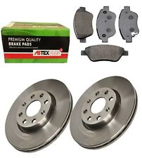 FRONT BRAKE DISCS AND BRAKE PADS FITS VAUXHALL CORSA D 2006 - 2013 VENTED