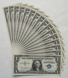 16- 1957- Silver Certificates- $1- Star Notes- Consecutive Notes- Crisp UNC