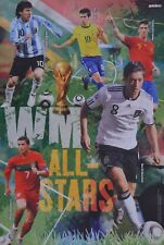 WM STARS - A3 Poster (42 x 28 cm) - Mesut Özil Christiano Ronaldo Kaka Fußball