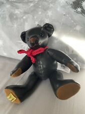 More details for merrythought leather ted limited edition bear no 74 of 500