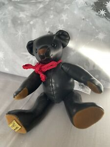 Merrythought Leather Ted limited edition bear no 74 of 500