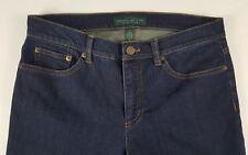 RALPH LAUREN Womens Size 6 Dark Wash Cotton Blend Classic Straight Jeans