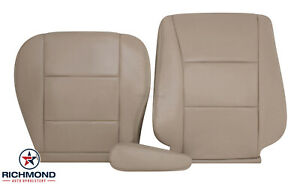 For 1998-2007 Toyota Land Cruiser -Driver Side Complete Leather Seat Covers Tan