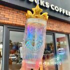 2021 China Starbucks Valentine Siren Golden Crown Glass 14oz Straw Cup Tumbler