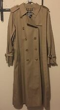VINTAGE Womens Burberry Prorsum Double breasted Trench Coat Khaki US Sz 10 NEW