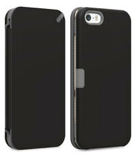 PUREGEAR BLACK FOLIO WALLET CASE COVER CARD SLOT STAND FOR APPLE iPHONE SE 5 5s