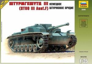 STURMGESHUTZ STUG III AUSF.F (WEHRMACHT MKGS) #3549 1/35 ZVEZDA RARE