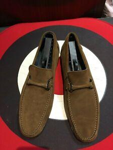Marks & Spencer brown suede penny loafers uk 9 ivy mod