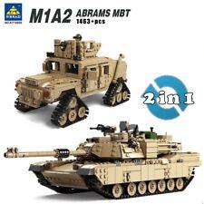 M1A2 Abrams Tank ou MBT HUMMER - 2 en 1 - 1463 Pièces compatibles blocs Modèle
