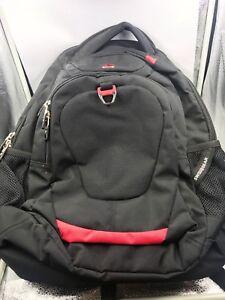 BACKPACK SwissGear Scansmart TSA Laptop Backpack Black/ Red NWOT