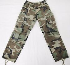 US Army Woodland Camouflage Combat Pants Trousers Small Military