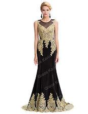 Gotico Applique vestido dama honor vestidos de fiesta vestidococtel ceremonia