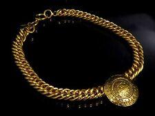 100% Authentic CHANEL Gold-Tone 31 Rue Cambon Choker Pendant Necklace S277