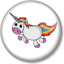 """UNICORN 25mm 1"""" Pin Button Badge Rainbow Mythical Fairytale Cute Hipster Kawaii"""