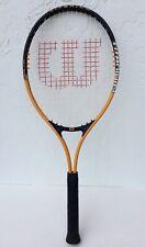 New listing Wilson Titanium 3 Soft Shock 3 Tennis Racquet Racket Orange/Black L4 4 1/2