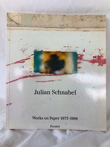 JULIAN SCHNABEL - WORKS ON PAPER 1975-1988 - Prestel-Verlag 1990 HB/DJ paintings