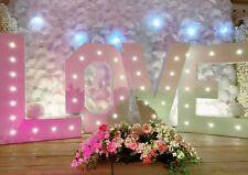 Love Letters LED 4ft Large Light Up Letters For Weddings Celebrations Hire