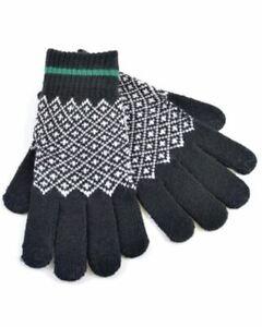 Mens Tom Franks Fairisle Pattern Knitted Touch Screen Phone Gloves GL354