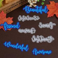 4pcs Metal Art Word Embossing Cutting Dies Stencil for DIY Scrapbooking Photo