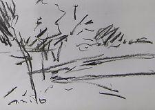 JOSE TRUJILLO MODERN EXPRESSIONISM ORIGINAL CHARCOAL DRAWING ABSTRACT ARTWORK