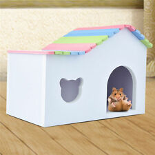 Colorful Wooden House for Cage Small Animal Hamster Rat Mice Guinea Pig Home Bed