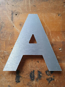 Reclaimed silver shop letter A - approx 14.5cm tall retro sign pub salvaged