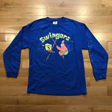 Vintage Spongebob Squarepants Patrick Swingers  Long Sleeve T Shirt Men's Large