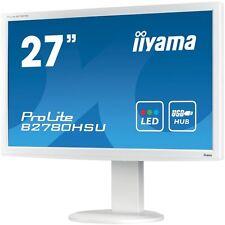 """iiyama B2780hsu-w1 27"""" White Full HD LED Monitor 1920 X 1080 Speakers 110mm Heig"""